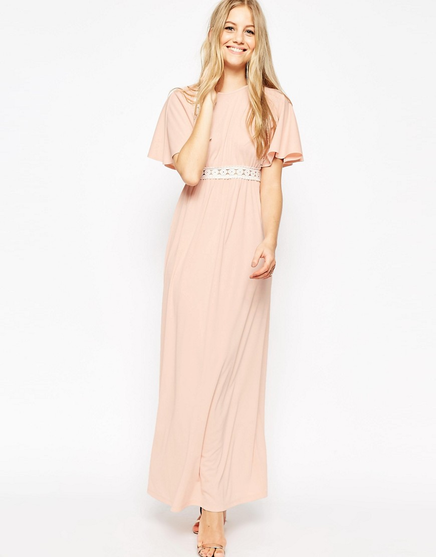 maxi dress asos rosa encaje www.decharcoencharco.com