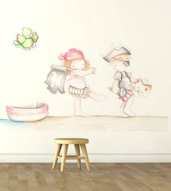 Ni os papel pintado deco 12 de - Pintar habitacion infantil nino ...