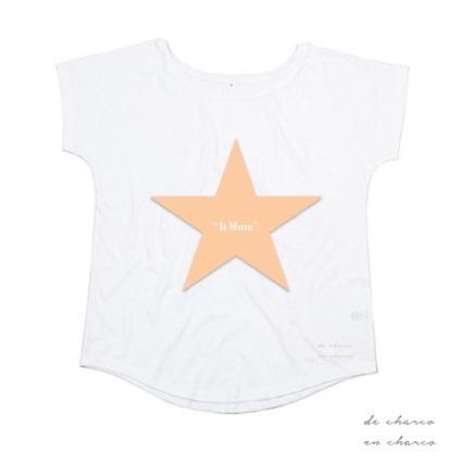 camiseta mujer it mum estrella melocoton 2 www.decharcoencharco.com
