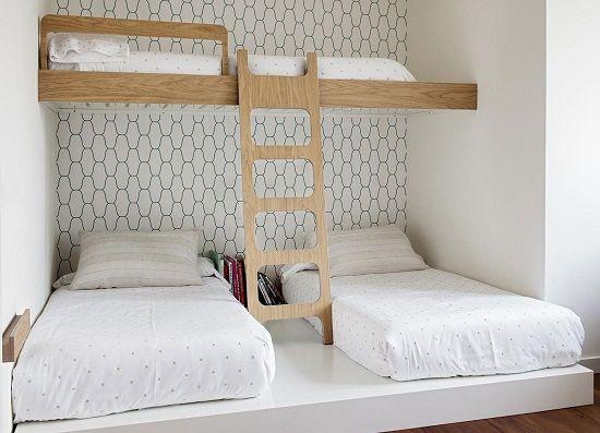 habitacion para 3 con poco espacio www.decharcoencharco.com