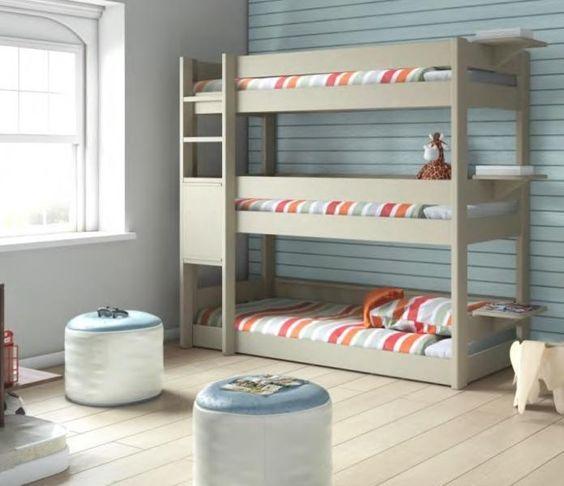 Soluciones para habitaciones infantiles cuando hay 3 hermanos y poco espacio de charco en charco - Soluciones escaleras poco espacio ...