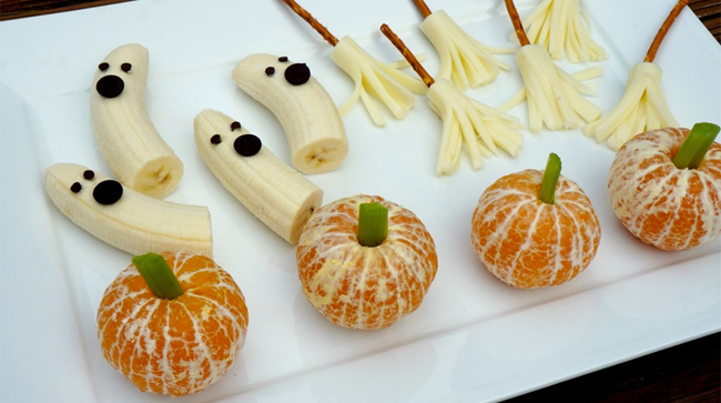 Fruta comida halloween www decharcoencharco com de for Ideas de comidas faciles