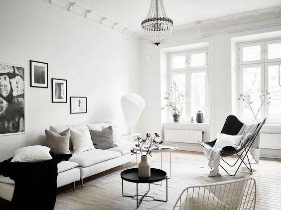 decoracin de salones en blanco y negro elegancia y minimalista