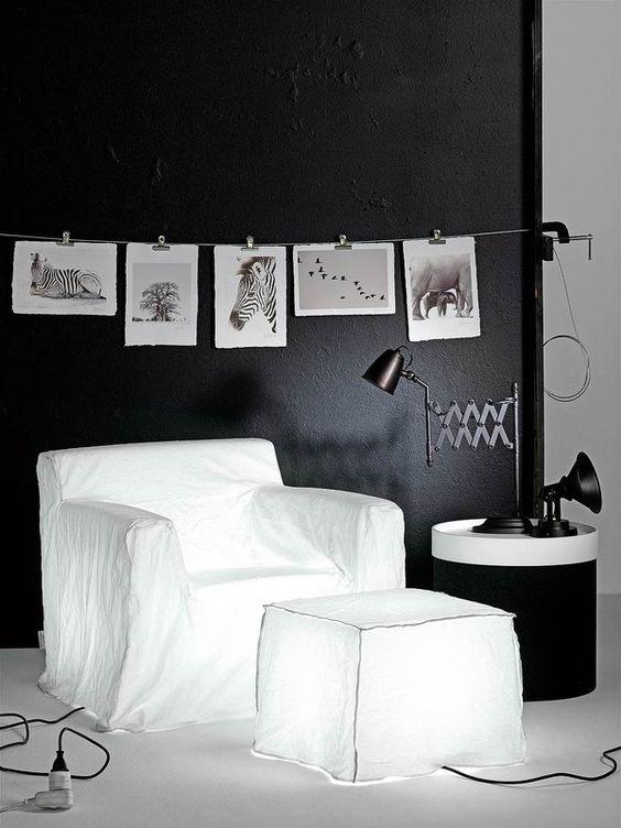 Decoracion salones 7 en blanco y negro www - Salones en blanco y negro ...