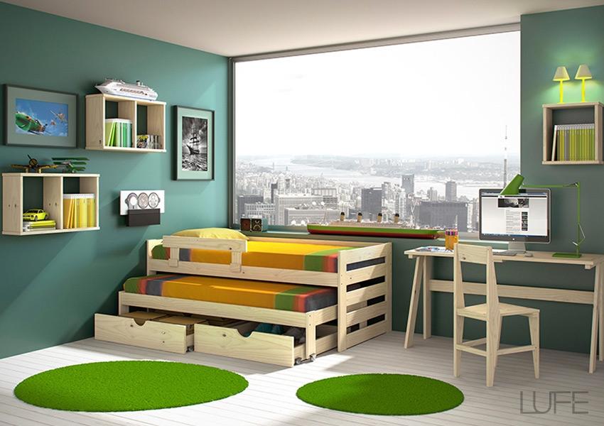composicion-cama-compacta-con-cajon-base muebles lufe ikea vasco www.decharcoencharco.com