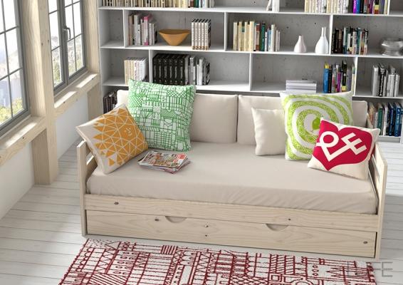 composicion-cama-sofa muebles lufe ikea vasco www.decharcoencharco.com