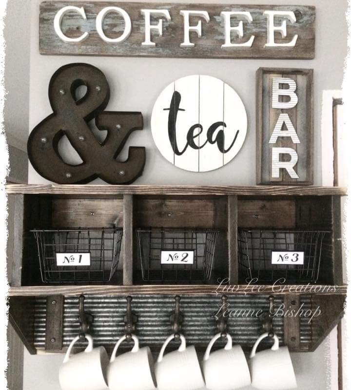 Decoracion Pon Un Coffee Bar En Tu Casa Trabajo O Jardin Y - Bar-en-casa-decoracion