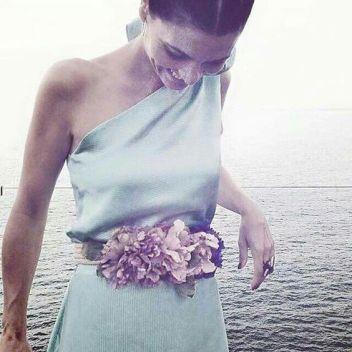 moda complementos 10 cinturon flores www.decharcoencharco.com