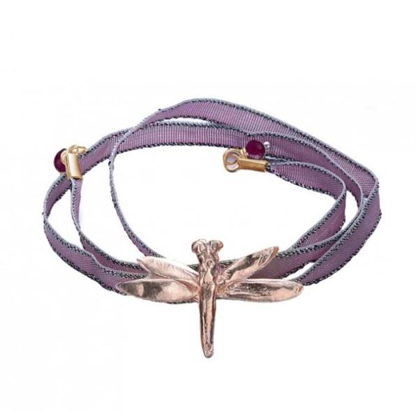 pulsera-de-oro-rosa-classic-dragonfly-baby-pink apodemia www.decharcoencharco.com
