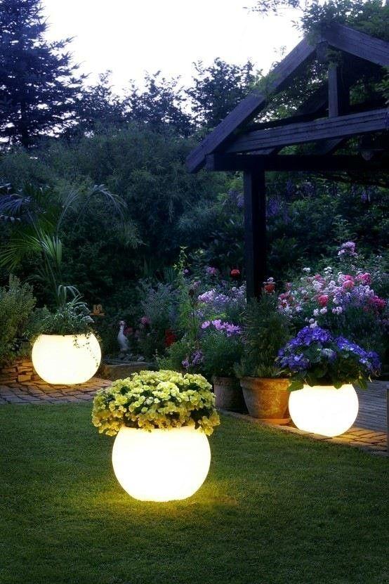 decoracion iluminacion jardin terraza balcon