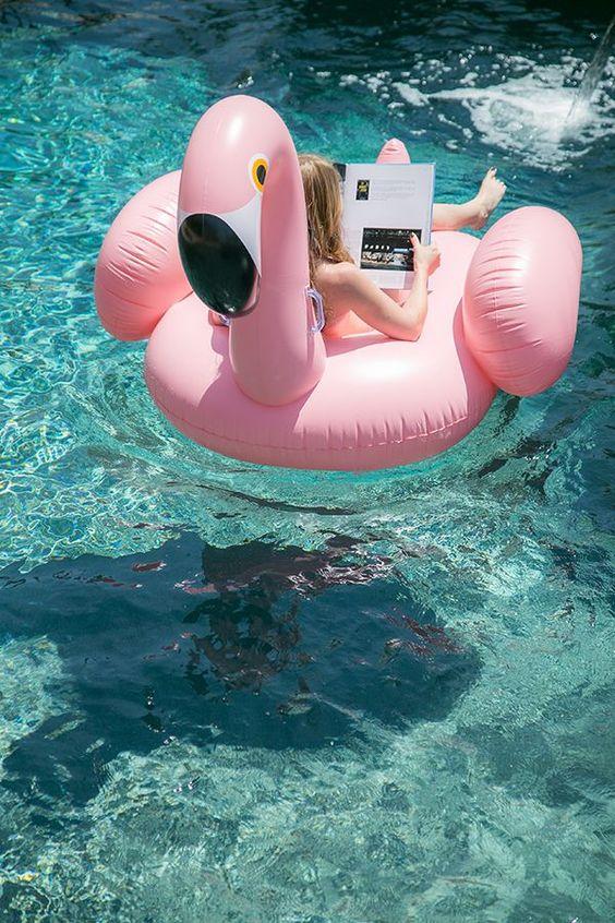 flotador colchoneta flamenco