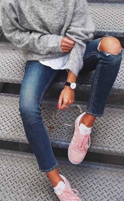 moda adidas gazelle zapatillas 8 gris rosa www.decharcoencharco.com